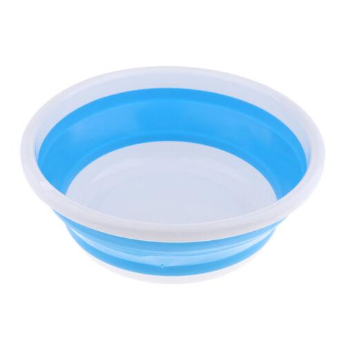 Seau pliant en plastique portatif de bassin de lavage de camping extérieur