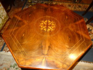 Antique-French-Museum-Quality-Rosewood-Centre-Octagonal-Marquetry-Table
