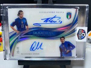 2020 Immaculate Soccer ALESSANDRO NESTA / MASSIMO ODDO Dual Autograph 25/35 AUTO