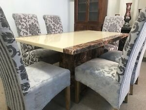 Swell Details About Monaco Marble Dining Table And 6 Chairs Grand Designs Unbeatable Prices Download Free Architecture Designs Embacsunscenecom