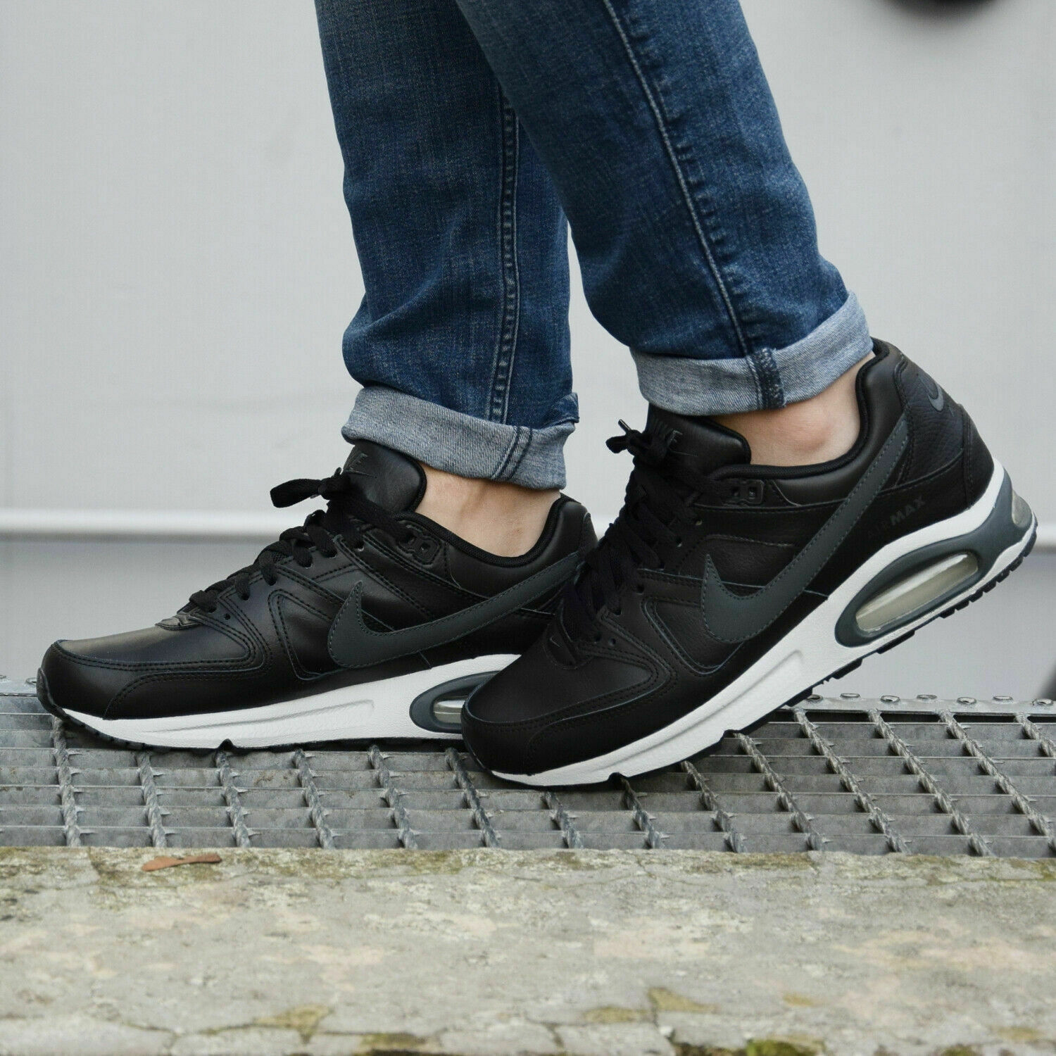 NIKE AIR MAX COMMAND LEATHER Trainers Casual Fashion Black Various sizes