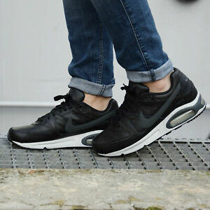 Details about NIKE AIR MAX COMMAND LEATHER Trainers Casual Fashion Black Various sizes