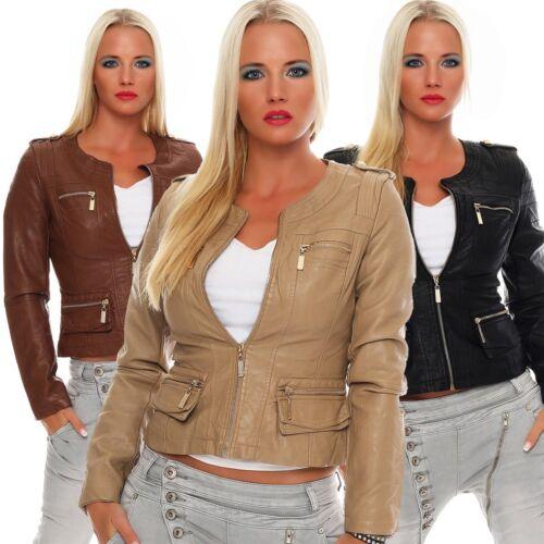 K924 GIACCA CORTA GIUBBINO BIKER-style breve giacca in finta pelle.
