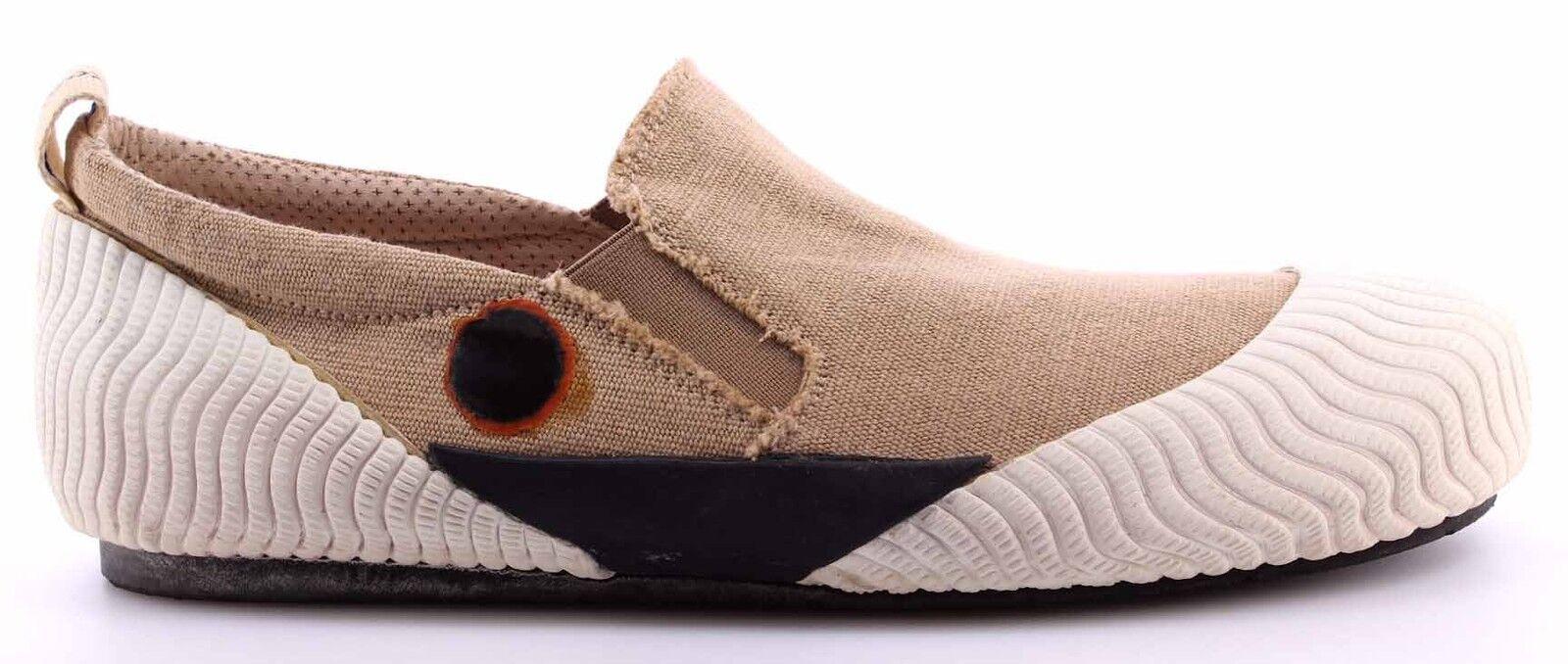 Herren Sneakers Schuhe MOMA 13502-VX Softy Weiß Slip On Beige Vintage  Neu