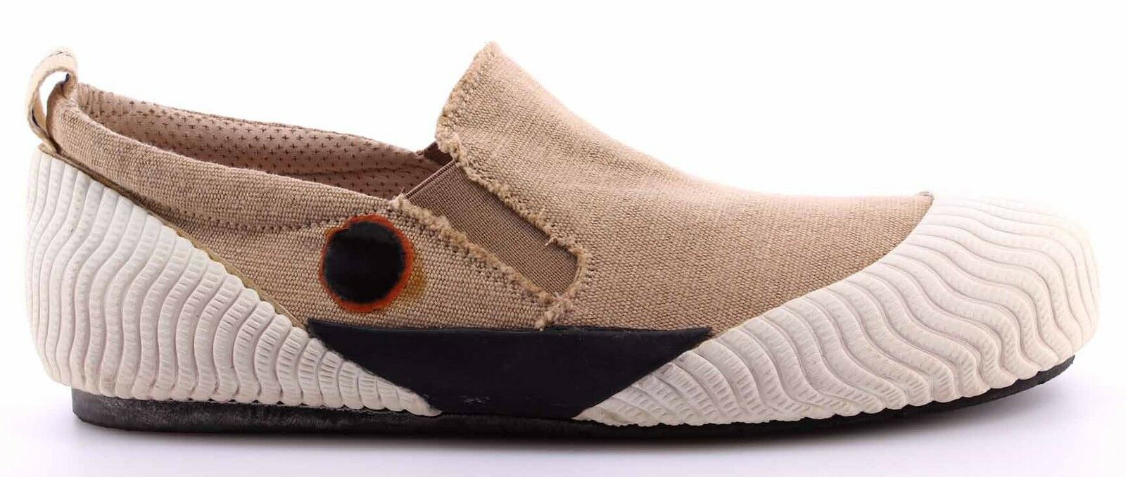 Herren Sneakers Schuhe MOMA 13502-VX Softy WEISS Slip On Beige Vintage  Neu
