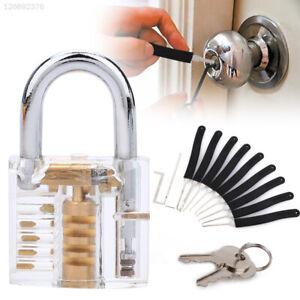 + Transparent Lock Padlock Key Extractor Tool Lock Pick Set Professional Home