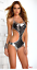 Black-Silver-Panarea-Swimsuit-Metallic-Monokini-Bathing-Suit-by-Forplay-L-10-12 miniatuur 1