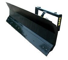 96 Inch Skid Steer Snow Plow Attachment With Replaceable Cutting Edge