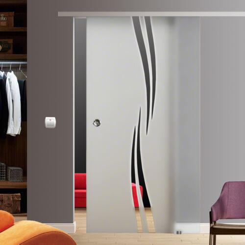 SlimLine SoftStop Glasschiebetür Glas Schiebetür 1025x2175mm BM2-1025-2 AS