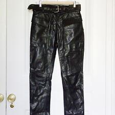 JOSEPH BLACK LEATHER TROUSERS BNWT RRP £595 Size 34 / 8 Jeans Biker Skinny 6 XS