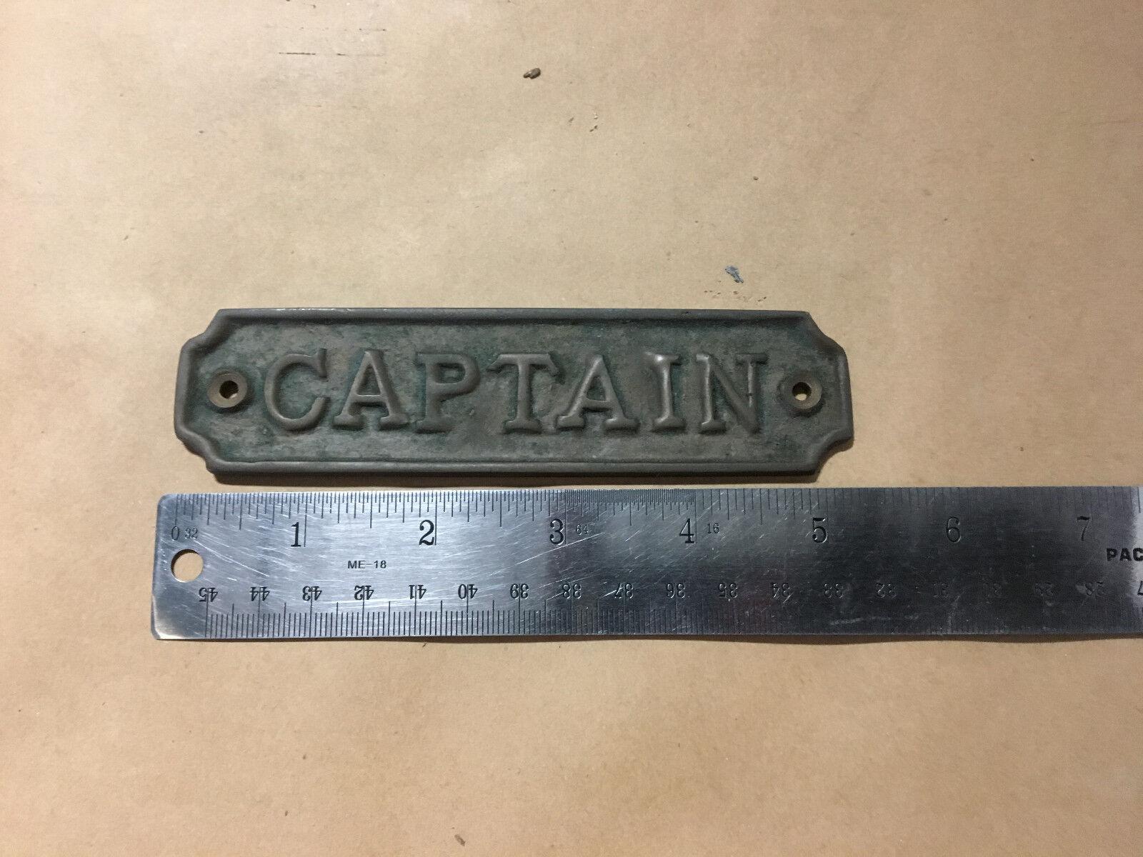 Vintage Brass  CAPTAIN  Boat Sign