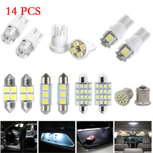 14Pc-Super-White-LED-Interior-Package-Kit-T10-31mm-Map-Dome-License-Plate-Lights