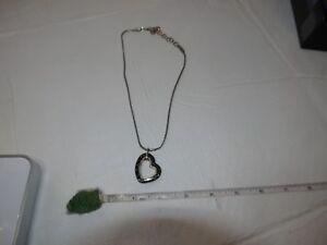 Brighton-Open-Heart-Pendant-Necklace-Reversible-Brown-Black-16-18-Chain-silver