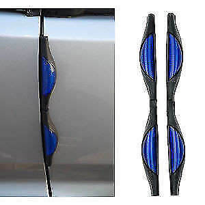2 BLUE CAR DOOR REFLECTORS GUARDS PREVENTS SCRATCHES PROTECTS EDGES FREE POSTAGE