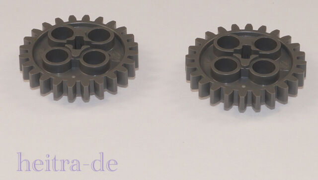 LEGO Technik - 2 x Zahnrad 24 Zähne dunkelgrau / Zahnräder / 3648 NEUWARE (e4)