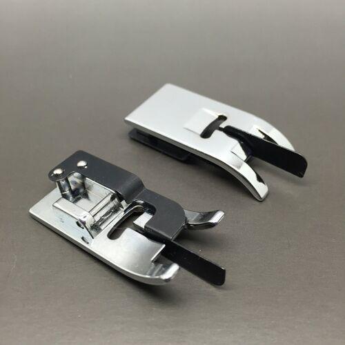 Pied surpiqûre bordures étroites métal plat zigzag 7mm Janome machines à coudre