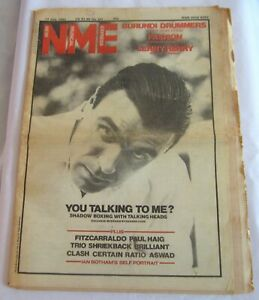 David Byrne Talking Heads New Musical Express NME July 7 1982