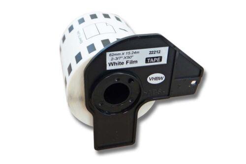 ENDLOS Premium ETIKETTEN 62mm x 15.24m WASSERFEST für BROTHER P-touch QL-700