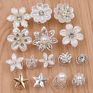 Blingbling Blume Spirale Haar Clip Hochzeit Braut Deko Strass Perlen