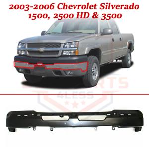 Bumper For 2003-2006 Chevrolet Silverado 1500 2500 HD 3500 Black Front