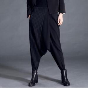 Pantaloni Asimmetrici larghi Colore conici larghi Pantaloni da X25 unita tinta a donna misto rnpAwFrxq