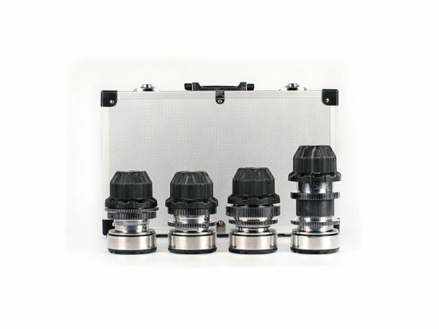 PL mount Anamorphic flare & Bokeh Silver Cine 4 Lens Set 37mm 58mm 85mm 135mm
