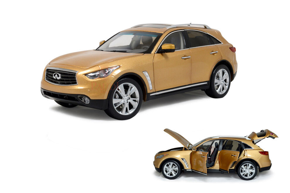 1/18 1:18 Scale Infiniti QX70 FX50S 2014 Gold Diecast Model Car Paudimodel