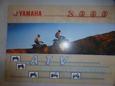 YAMAHA CATALOGUE 2000 QUAD badger breeze blaster warrior banshee  COMPETITION