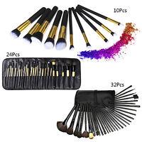 10/24/32pcs Kabuki Professional Foundation Blusher Face Powder Make Up Brush Set