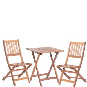 Tavolo E Sedie Legno Da Giardino.Set Tavolo E Sedie Pieghevoli In Legno Da Giardino Tavoli E Sedia