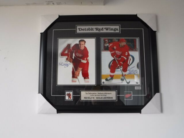 NEW! L/E RED KELLY & NICKLAS LIDSTROM DETROIT RED WINGS SIGNED FRAMED PRINT W/CO