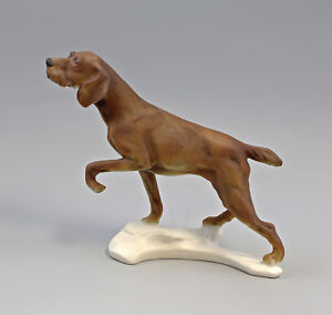 9959258-Porcelain-Figure-Dog-Hunting-Dog-Braun-Bisque-Ens-20x24cm