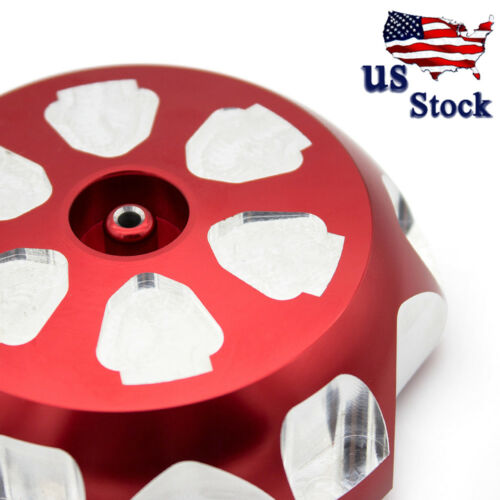 US Motorcycle Red For Yamaha YFM 700R 2008-2017 Billet Gas Fuel Tank Cap Cover