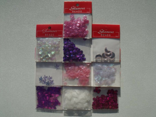 IT/'S A GIRL DIY jewellery Arts Crafts 10pk Sequins Seed Bead Baby Shower PINK