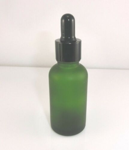 100PCS 30ml Green Frosted Glass Essential Oil Bottle W// Pointed Tip Dropper Cap
