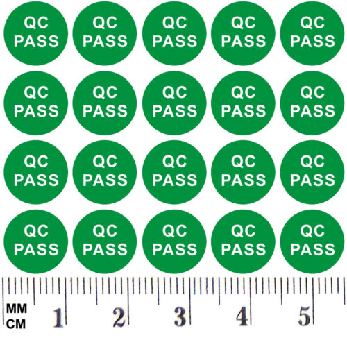 Green Arrow QC No Pass Labels Green Hologram QC Passed Stickers Small Red