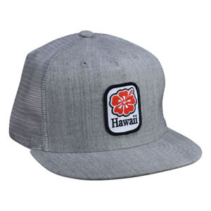 c1c3573b Hawaii Hibiscus Trucker Hat by LET'S BE IRIE - Heather Gray Snapback ...