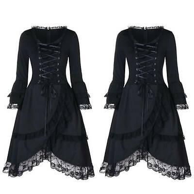 women's victorian gothic lace dress steampunk corset
