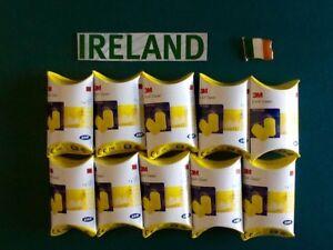 10 x PAIRS 3M EARPLUGS FOAM EAR PLUGS - FREE POSTAGE IN IRELAND -BEST QUALITY