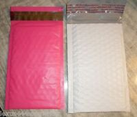 30 White & Pink Bubble Mailers 5x7 20 -pink 10-white