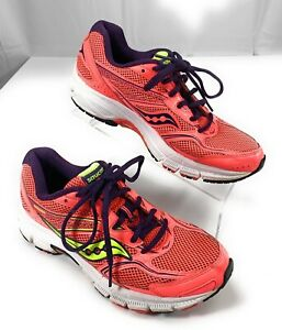 Saucony-Cohesion-9-Grid-Watermelon-Navy-Running-Shoes-Women-039-s-9