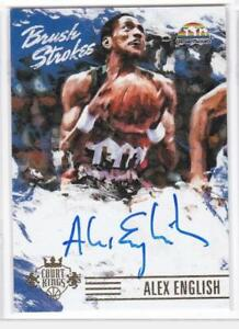 2015-16 Alex English Auto Autographs #/99 Panini Court Kings Brush Strokes