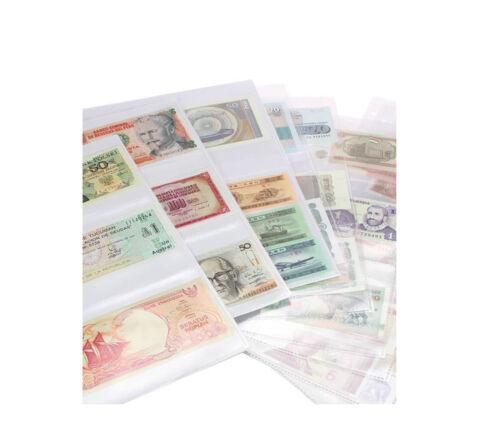 10 50 100 A4 Sammelhüllen Prospekthüllen Kartenhüllen Sammeltaschen 3er Teilung