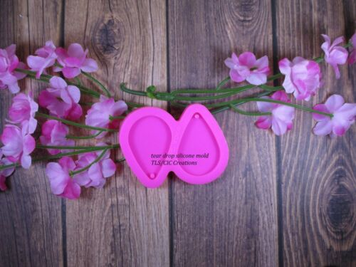 Resin Epoxy Earrings Necklace ships from USA Small Tear Drop Silicone Mold