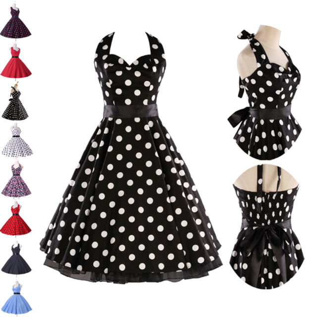 PLUS + FLOWER SWING PARTY PROM DRESS PIN UP RETRO VINTAGE 1950's HOUSEWIFE DRESS