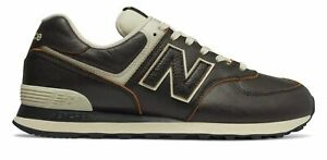 New-Balance-Men-039-s-574-Shoes-Black-with-Grey