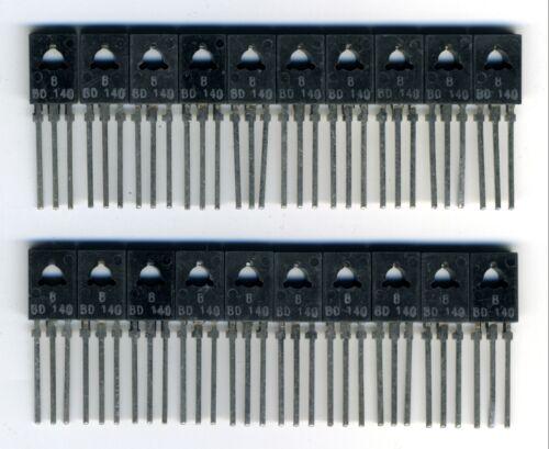 LOT DE 20 TRANSISTORS NEUFS BD140 de marque ST-microélectronique