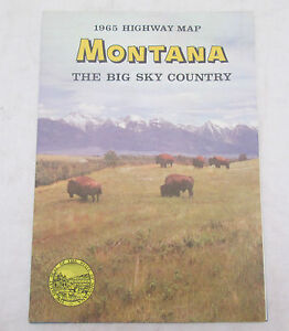 Vintage-1965-Highway-Map-MONTANA-The-Big-Sky-Country-State-Highway-Commission
