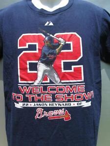 7018fcd7e636a MLB Men s Atlanta Braves Jason Heyward  22 Welcome to the Show t ...