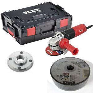 FLEX-Winkelschleifer-LE-9-11-125-regelbar-L-BOXX-25-Trennscheiben
